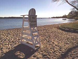 No Lifeguard on Duty at Wayzata Beach in Nov.