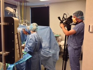 Twin Cities Live filming Dr. Bashioum for Mommy Make-over episode.