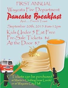 Wayzata FD pancake fundraiser