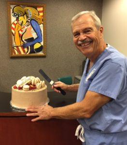 DR. Bashioum celebrates Top Doc w staff