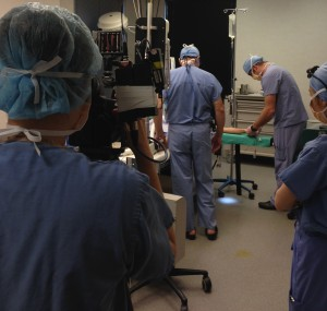 Dr. Bashioum is filmed for Twin Cities Live