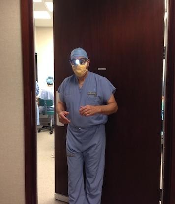 Dr.Bashioum going into surgery