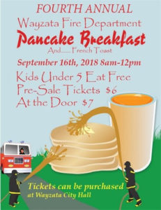 2018 Wayzata Fire Pancake Breakfast